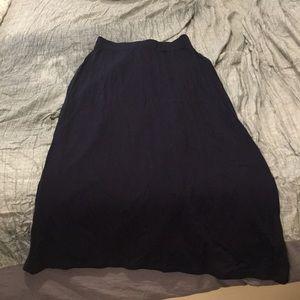 Navy jcrew skirt